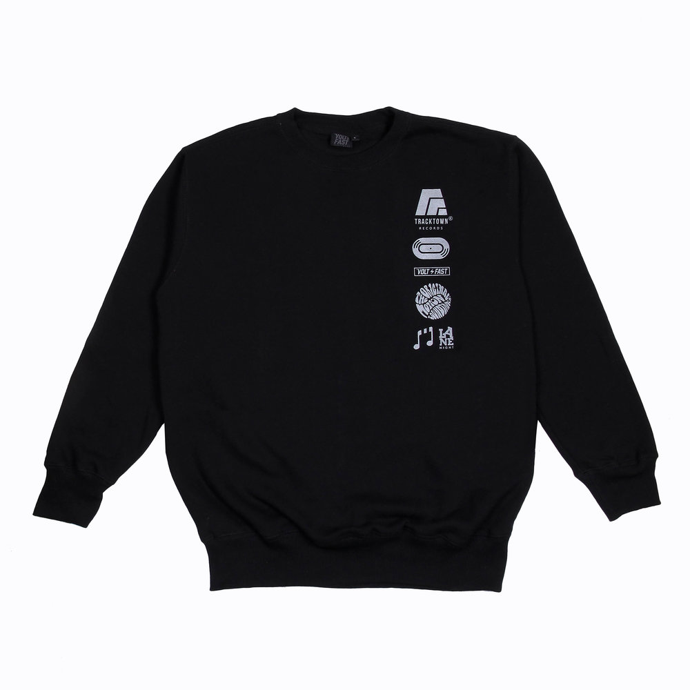 F4NTOME Capsule Collection   Tracktown Crewneck  Features:  - Terry Raglan fabric - Printed with reflective ink - Reflective label - Slim fit  Rp 400.000