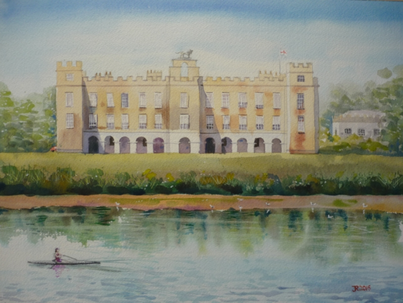 Paintings of large estate homes were often passed down for generations  Photo credit: Jessica Rose - Syon House