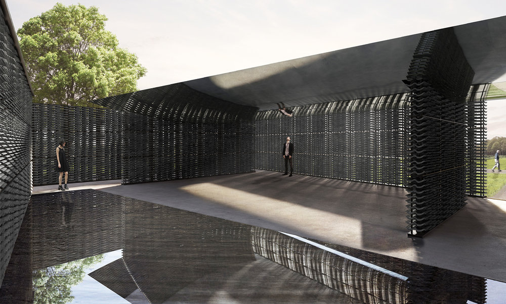 Serpentine Pavilion 2018 designed by Frida Escobedo, Taller de Arquitectura, interior view © Frida