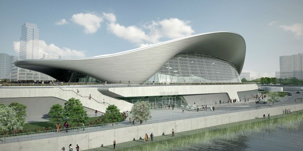 london aquatics centre, queen elizabeth park, stratford
