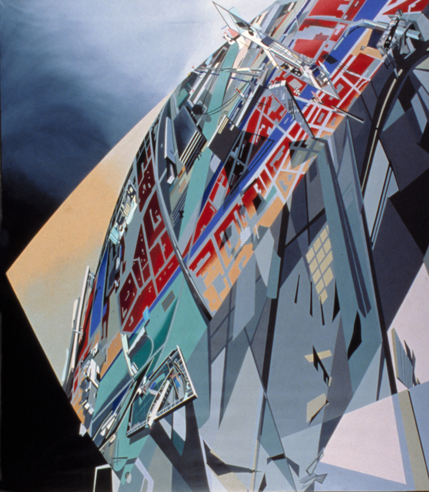 """The world (89 degrees)"" zaha hadid 1983"