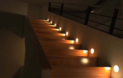 LED lighting can create a funky feature in staircase design while doubling up as a night light :)
