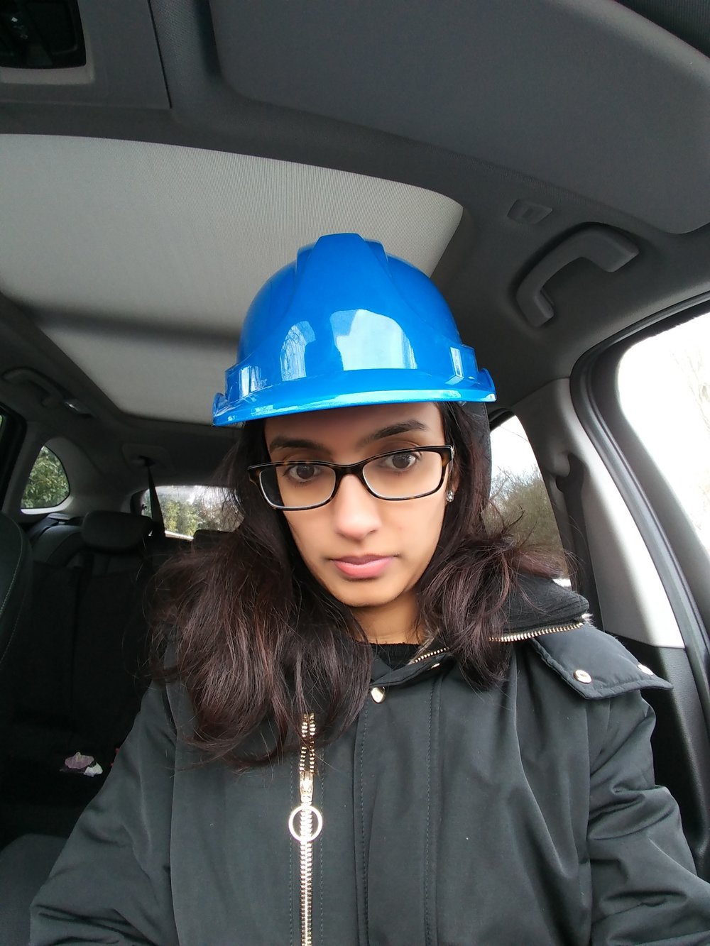 This is me with The Blue feather hat on site as pm (safety first!)