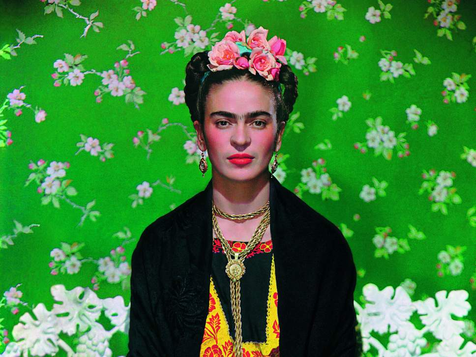 Stunning photograph by Nickolas Murray, one of Kahlo's lovers and best friends
