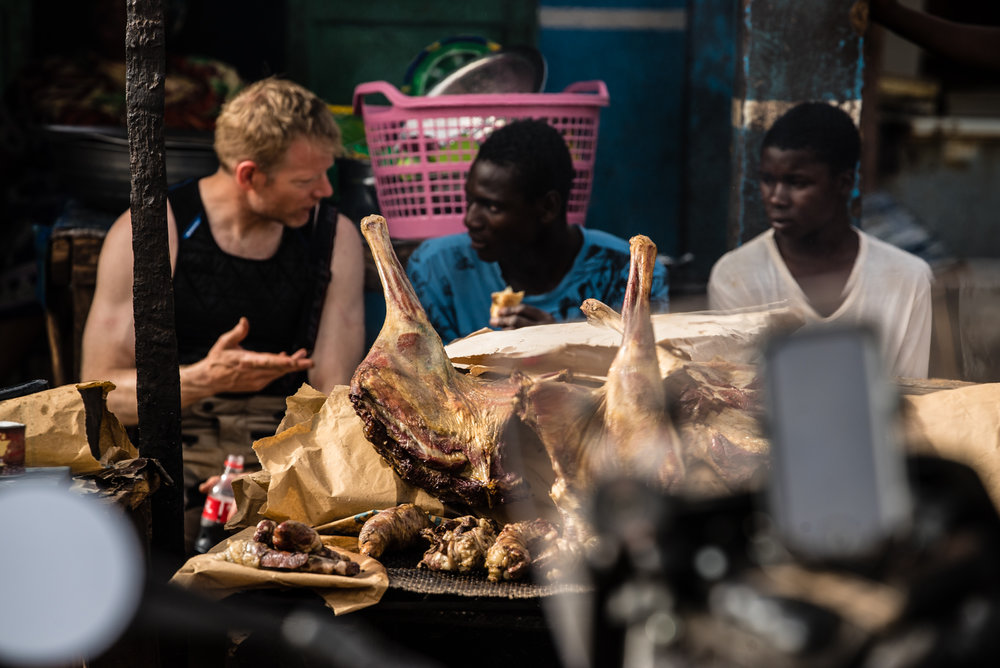 The street meat game in Mali is strong.