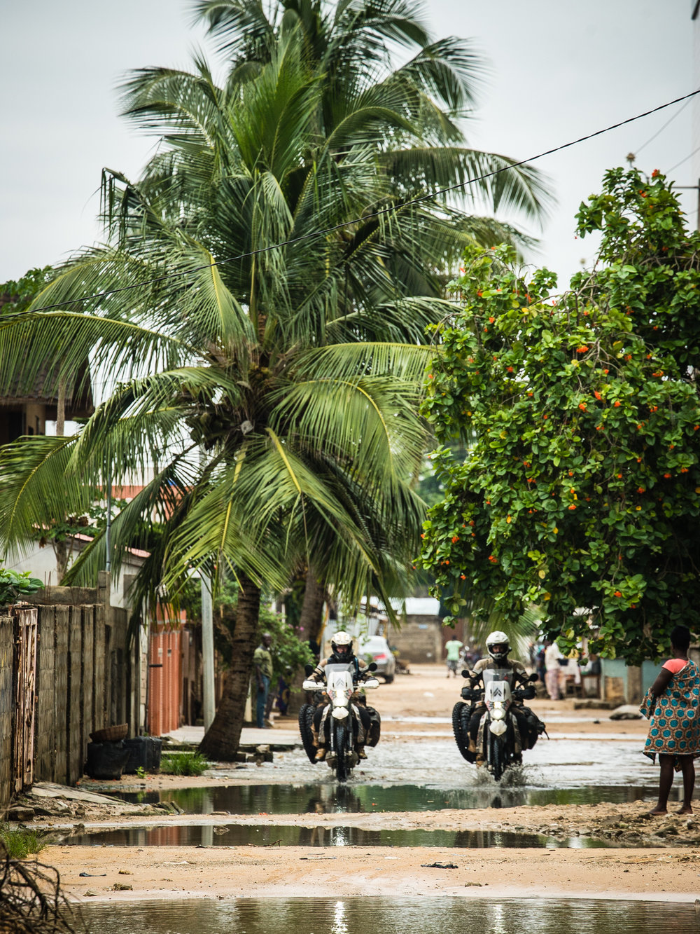 The streets of Cotonou after a monsoonal downpour that would be a taste of things to come.