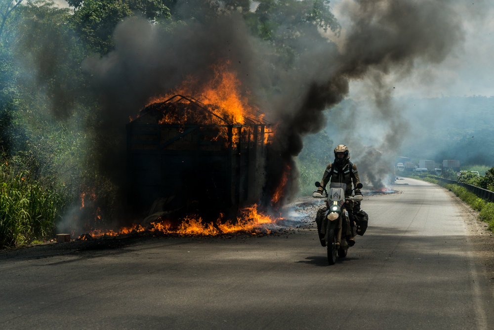 The roads in Nigeria were everything we had been warned about... pure chaos.