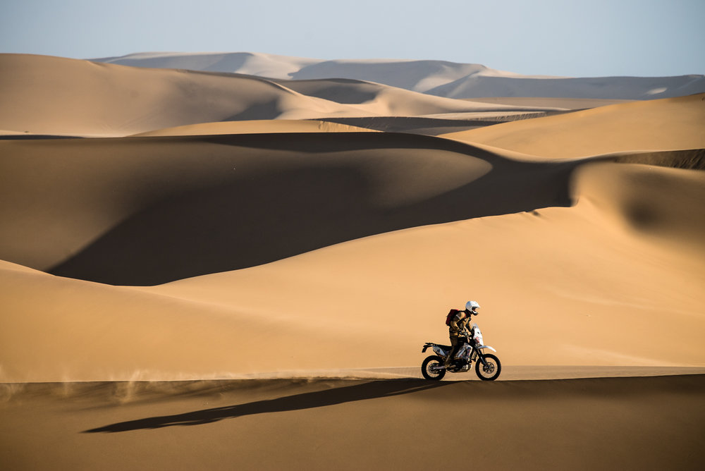 Riding in the dunes is way cooler even than we imagined it would be.
