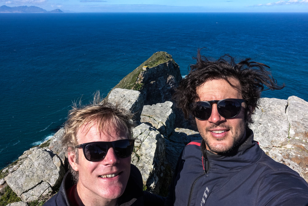 We ran out of continent.Cape of Good Hope.