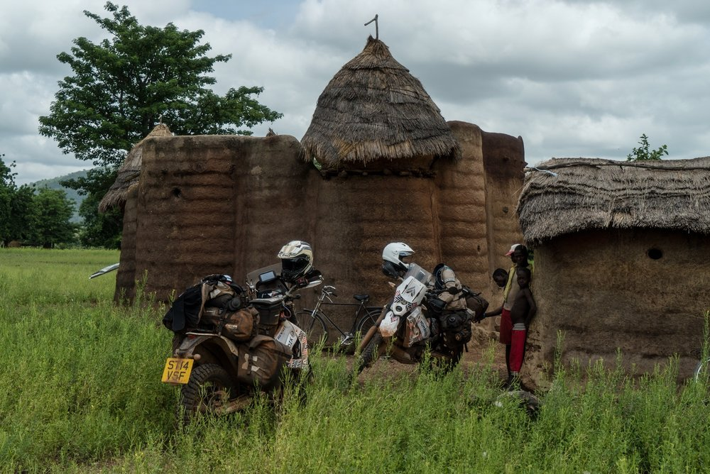 The UNESCO World Heritage site of Koutammakou in Togo. The mud brick huts are notable for being built numerous stories high with living quarters, grain storage and even acting as a fort.