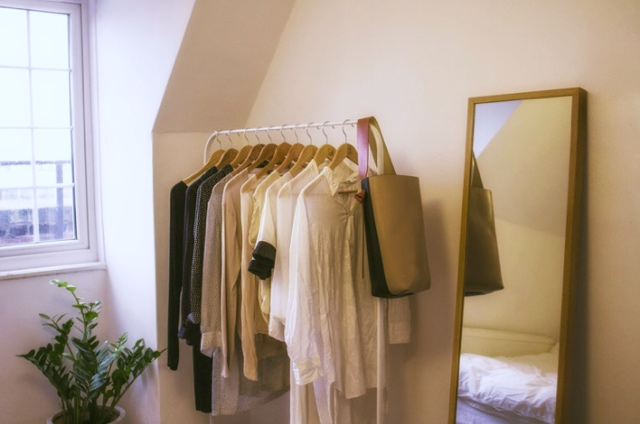 How to organise walk-in wardrobe  with the KonMari method.