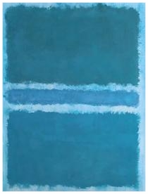 Blue Divided by Blue- Mark Rothko 1966