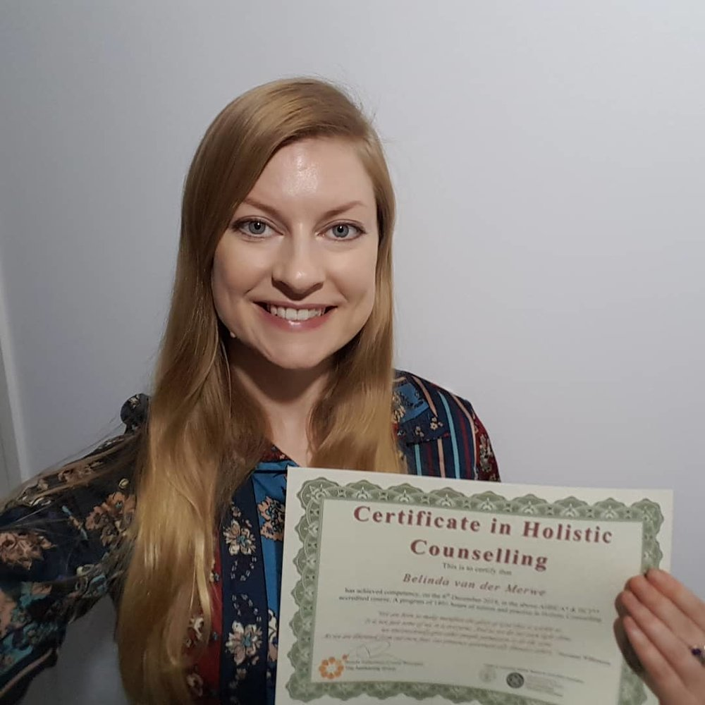 Belinda Van der merwe  diploma aromatherapy  diploma remedial massage  certificate oncology massage  certificate holistic counselling
