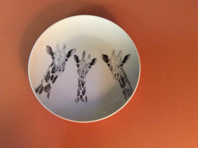 Three Giraffes Plate