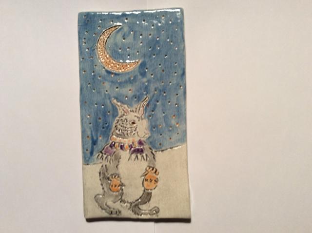 Evening Rabbit Tile