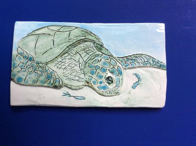 Sea Turtle Accent Tile