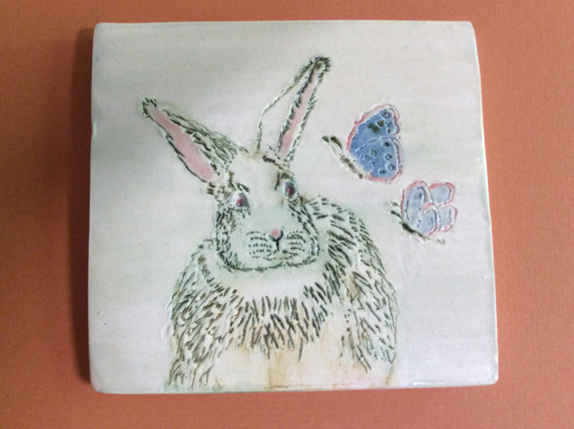 Bunny & Butterfly Accent Tile