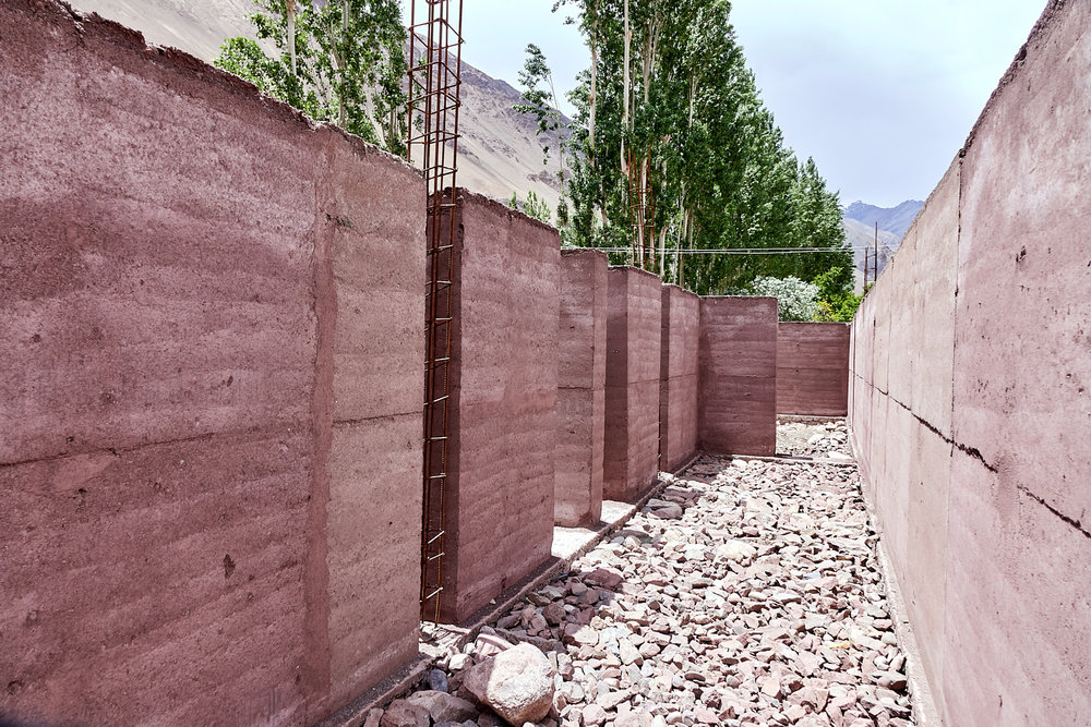 Rammed Earth Technique -