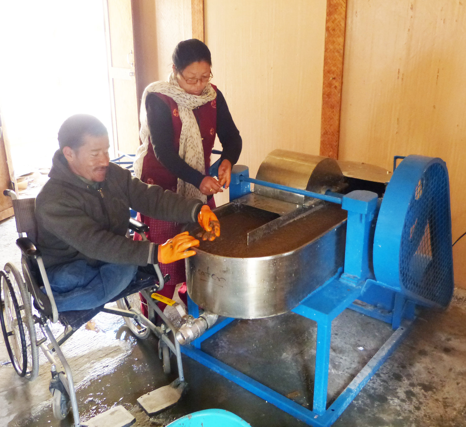 New Workshop For Recycling Machine At Pagir Lotus Flower Trust