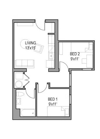 Models: 05, 09, 10, 14  With floor to ceiling window eat in cove, this unit is a must see: $800 per month per bedroom!