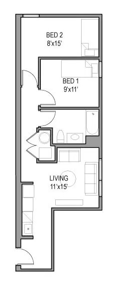 Models: 04, 07, 08, 11, 12, 15  A cozy two bedroom avaialable at a great rate: $800 per bedroom per month!