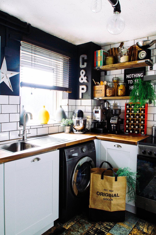 Kitchen door workshop -trends Washington range look amazing against Tile Mountain rural tiles