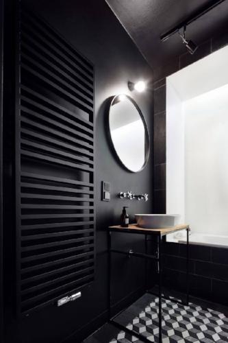 Beautiful black matt towel rail