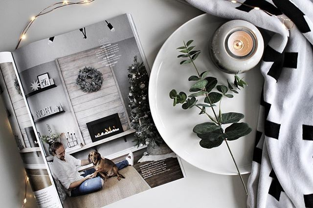 So today I'm super excited to see my home (and my little poppet Rocco) in the Christmas issue of @real_homes 🎄so honoured to be featured in such a lovely and inspiring magazine and amongst some gorgeous homes including one of my insta favourites @marienichols 🙌🏼🖤 oh and can't lie I was really tempted to leave the decs up 🙊😂