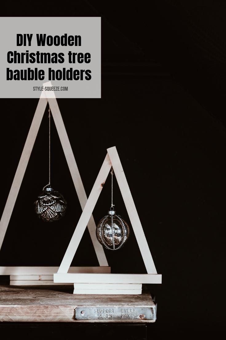 DIY Wooden Christmas tree bauble holders