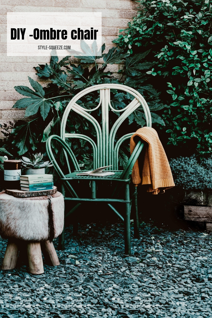 DIY -Ombre chair