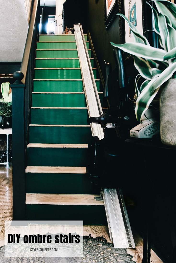 DIY ombre stairs