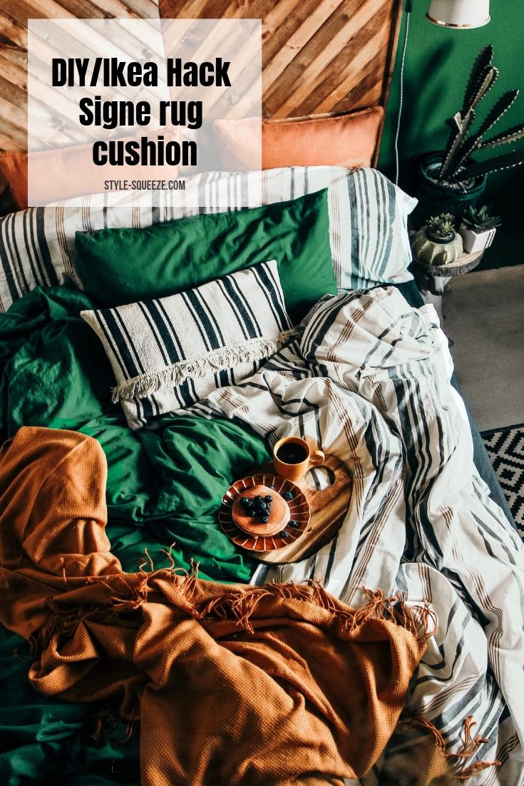 DIY/Ikea Hack - make cushion out of Signe rug