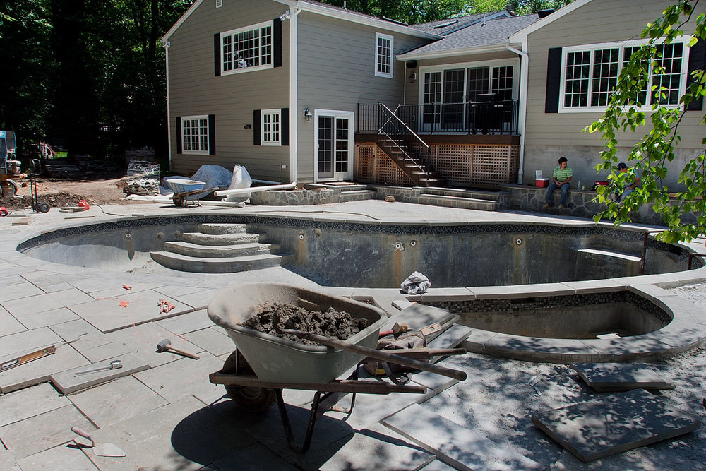 New Jersey pool renovation before