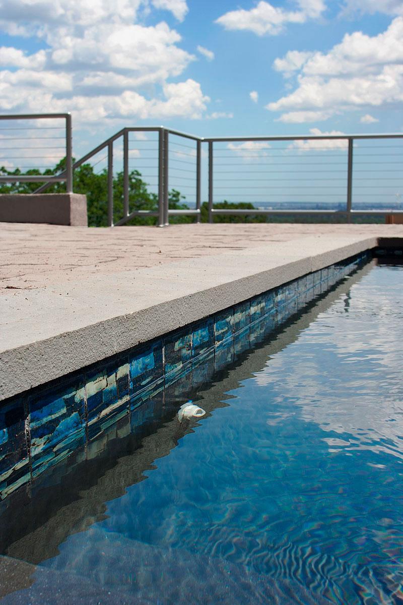 New Jersey pool tile renovation steps acid washed