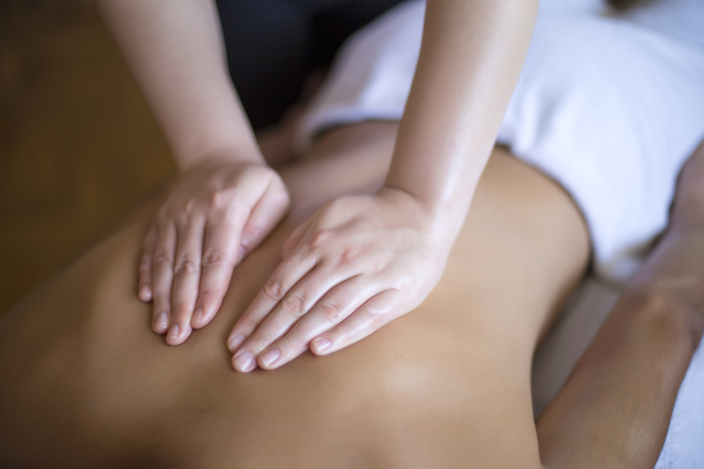 Swedish Massage - Consists of long gliding and friction strokes applied to superficial tissues of the body for relaxation and rejuvenation.