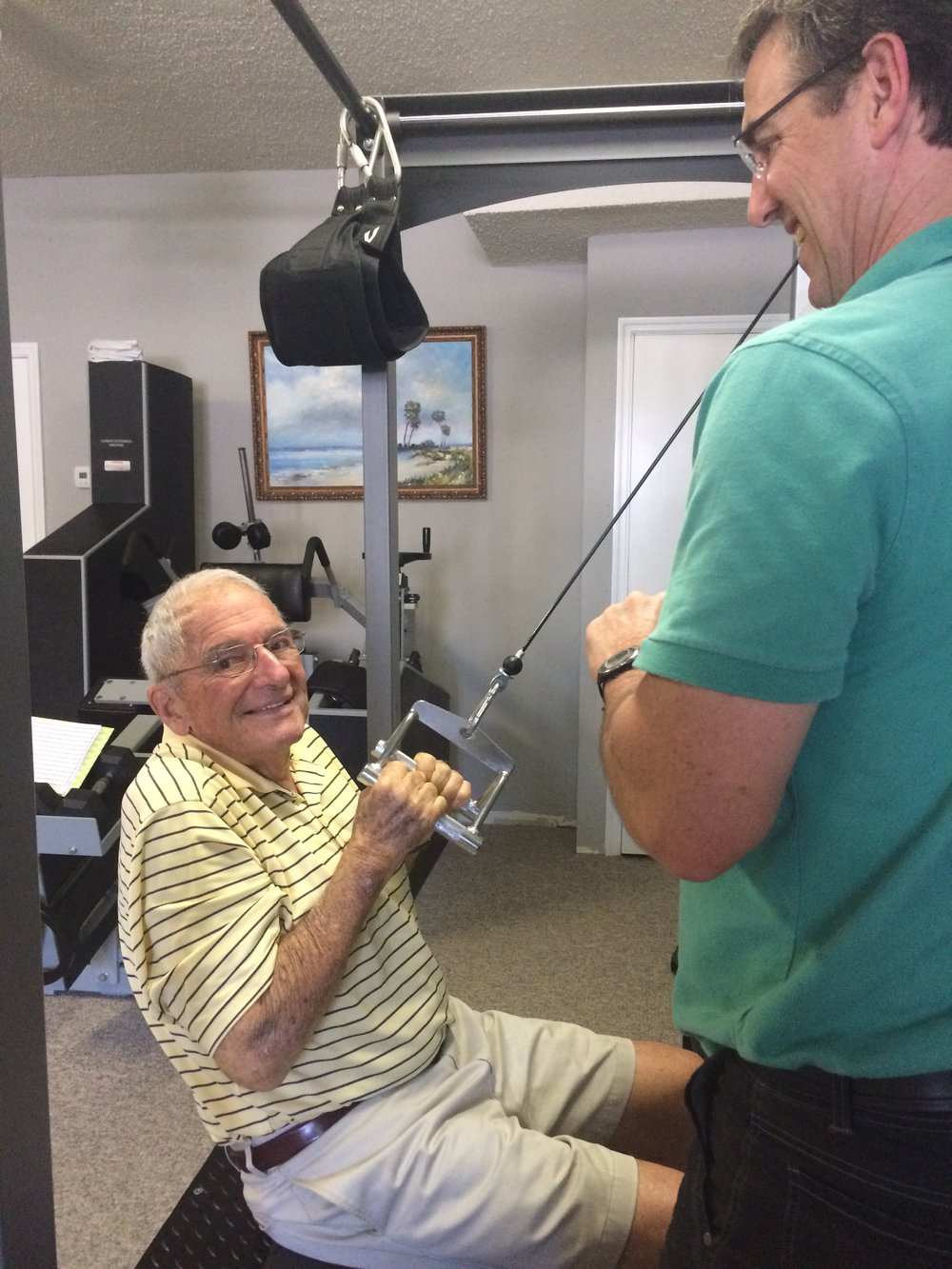 Dr. Joseph Von Thron working out every week!