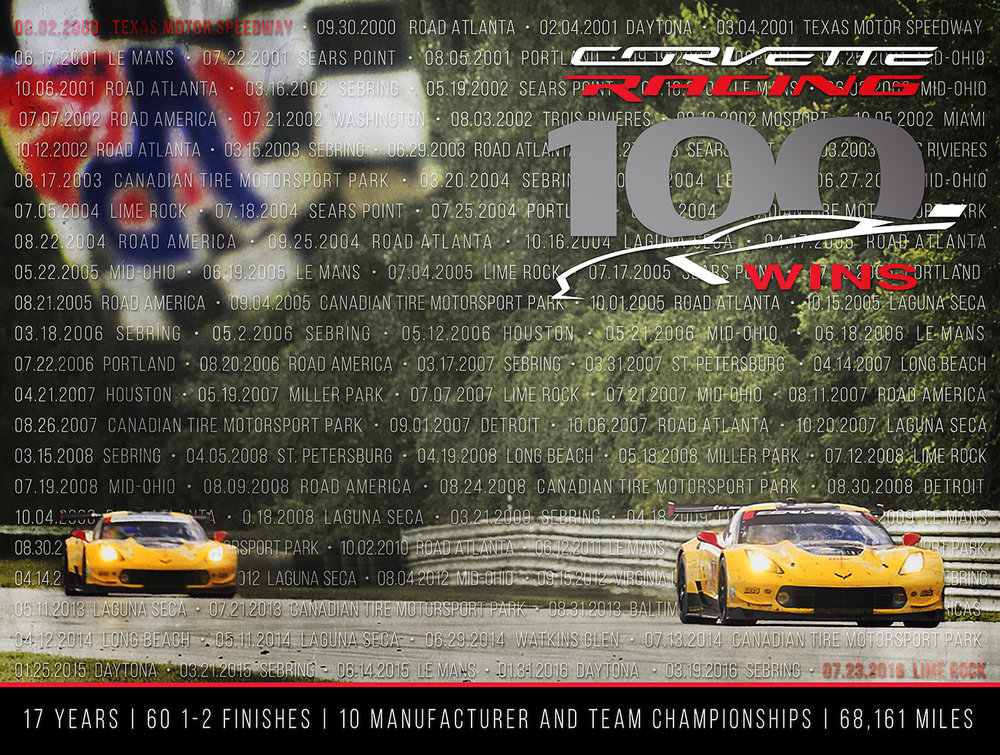 Corvette Racing 100 Wins