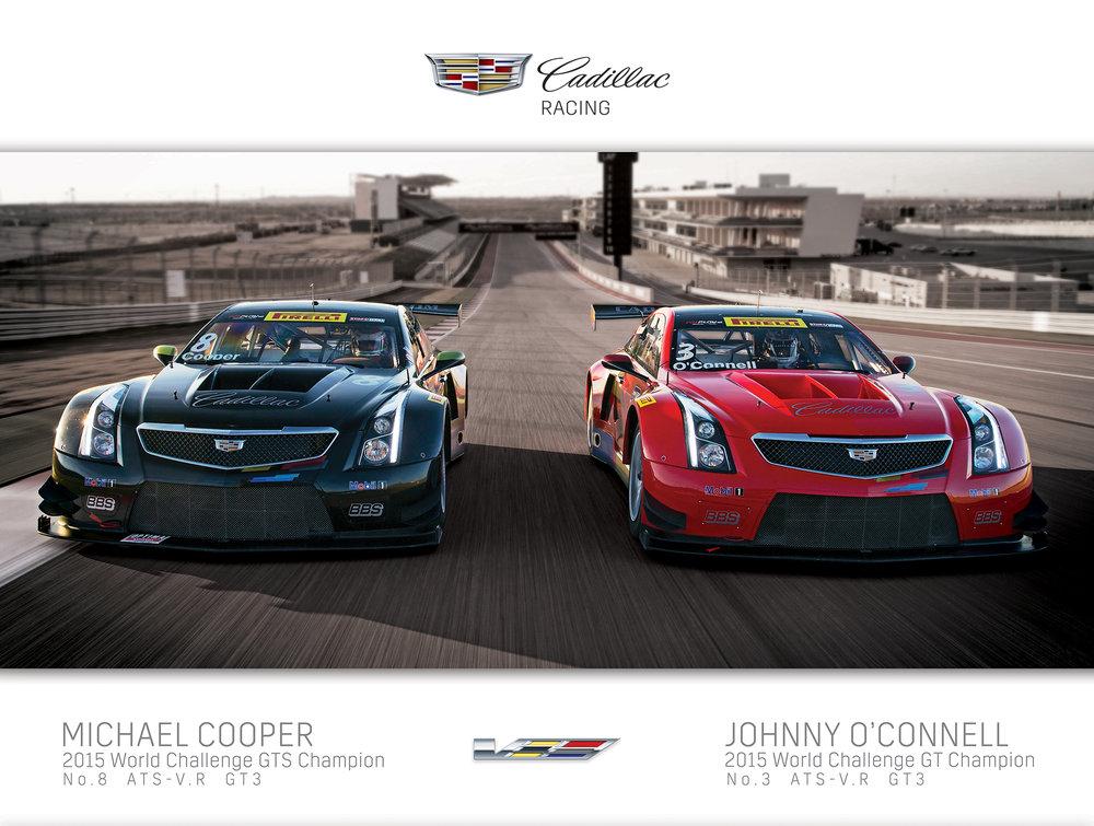 Cadillac Racing Poster