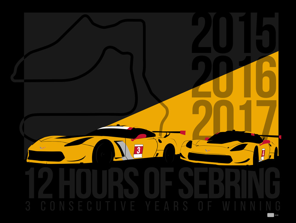 Corvette Racing Sebring Poster