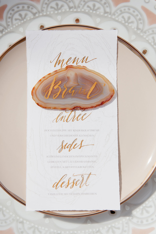 Papeterie Hochzeit Namensschild Edelstein