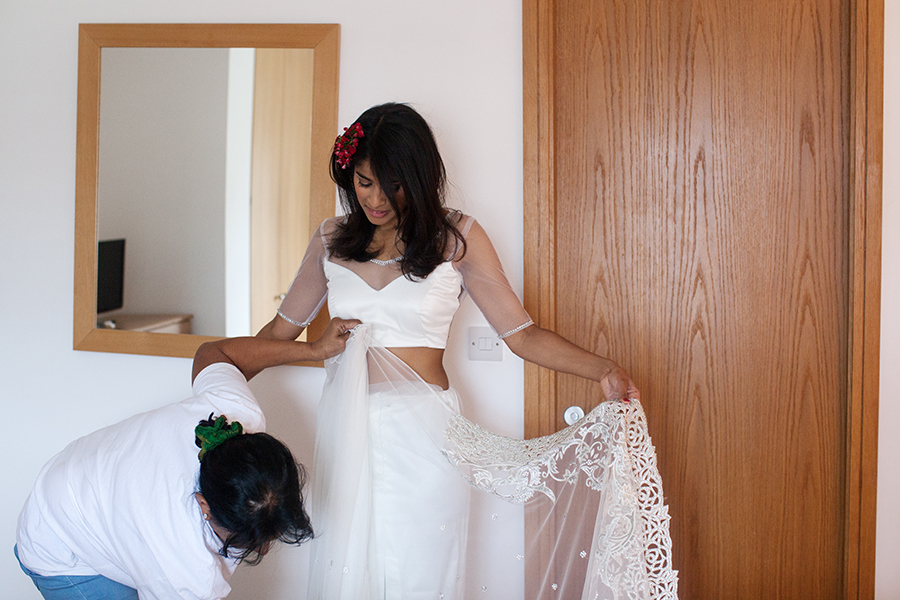 Wedding London Getting Ready King´s Wardrobe Sari Bridal Dress