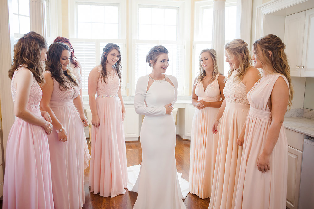 Bride and Bridesmaids Wedding Virginia Wedding North Carolina Wedding New England Wedding Morning