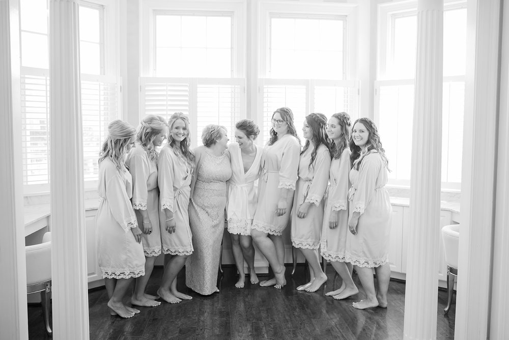 Bride, Bridesmaids and mother of the bride, the knot