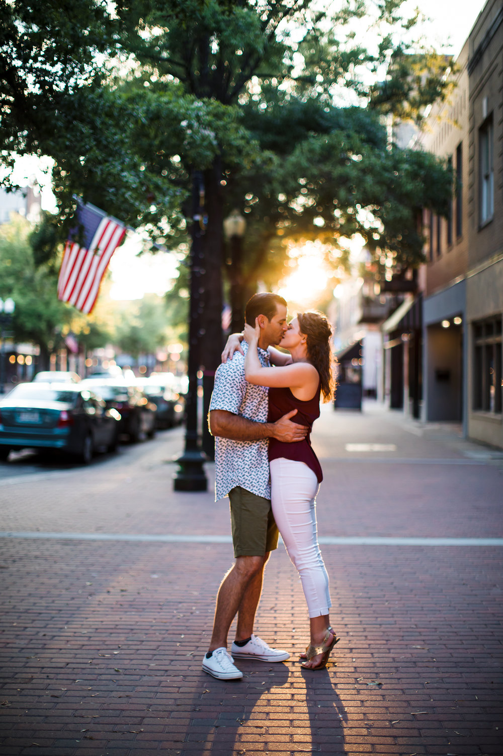 Engagement photoshoot Wilmington Fayetteville Raleigh downtown