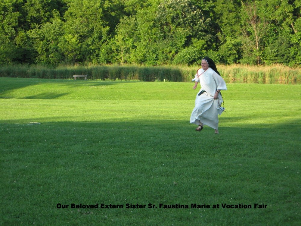 Extern Sister, Sr. Faustina Marie, participates in a vocation camp in Rockford, Il.