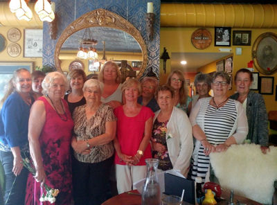ACW Year End Outing at the Snug - Annual outing took place on Monday June 18th, 2018 to celebrate the contributions of the members of the ACW.Pictured: Back Row L-R: Eleanor Henderson, Nicole Horrocks, Helen Vatandoust, Deborah Leslie, Jackie Ricketts, Julia Lindsey, Mary Thorley, Lynne Holmes. Front Row L-R: Margery Freethy (President), Pearl Hopson, Lynne Hannah, Ruth Hern, Carol Beeton.*Photo submitted by D. Leslie
