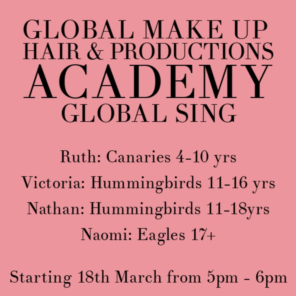We are so excited to be launching Global Sing ! Keep tuned in to be updated and join in even if you can't sing come and learn xx  -