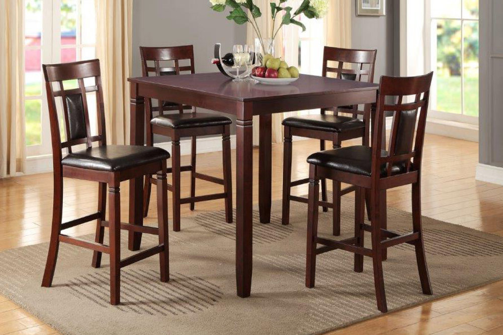 5Pc Counter Height Dining Set