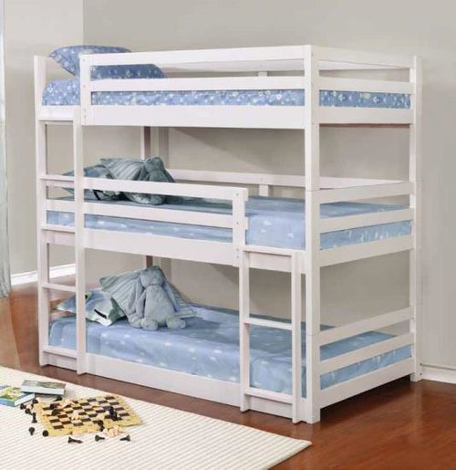 Twin Triple Bunk Bed And Trundle Decodesign Furniture Furniture