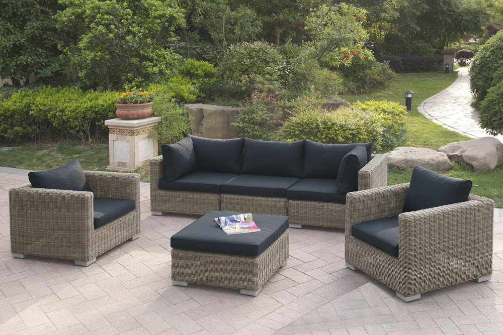 6 Pc Outdoor Patio Sofa Set